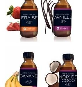 LOT-4-AROMES-NATURELS-Fraise-Vanille-bourbon-Banane-Noix-de-Coco-0