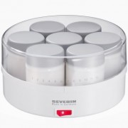 Severin-3516-Yaourtire-13-W-7-pots-150-ml-blanc-gris-0