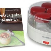 Severin-3519-Yaourtire-13-W-14-pots-150-ml-livre-de-recettes-blanc-rouge-0-0