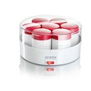 Severin-3519-Yaourtire-13W-14-pots-150-ml-blanc-rouge-0