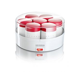 Severin-3519-Yaourtire-13W-14-pots-150-ml-blanc-rouge-0