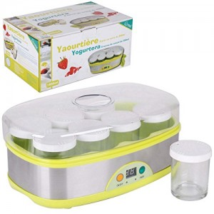 Promobo-Coffret-Yaourtire-Electronique-8-Pots-Dats-de-200ml-0