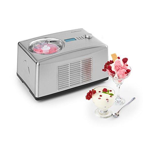 Klarstein-Yo-Yummy-Sorbetire-yaourtire-2-en-1-Glace-en-5–60-minutes-Puissance-absorbe-de-seulement-150-watts-Sans-prrefoidir-le-rcipient-ni-les-ingrdients-Transforme-le-lait-en-yaourt-frais–42-C-en–0