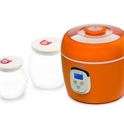 Oursson-FE0205DOR-Yaourtire-Capacit-2-L-2-x-Pots-en-verre-Contrle-digital-Orange-0-0