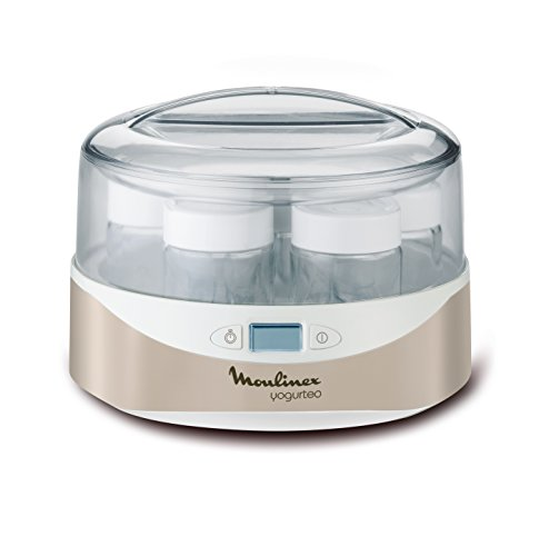 Moulinex-YG231E32-Yaourtire-Yogurteo-Programmable-7-Pots-de-Yaourt-Inclus-Ecran-LCD-Silver-Premium-0