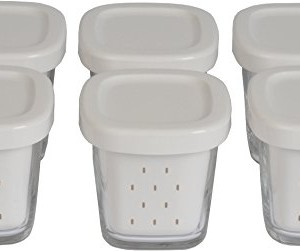 Seb-XF100001-Delices-Box-Coffret-de-6-Pots-Yaourt-Verre-Couvercle-Gris-avec-gouttoir-0