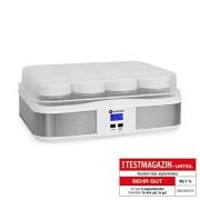 Klarstein-Gaia-yaourtire-lectrique-12-pots-prparation-de-yaourts-maison-fromage-frais-couvercle-hermtique-jusqu-25L-cadre-en-inox-cran-LCD-blanc-0