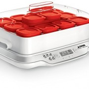 Seb-YG661500-Yaourtire-Multi-Dlices-Express-12-Pots-600W-Yaourt-Fromage-Faisselle-Cuisson-4h-Rouge-et-Blanc-0-0