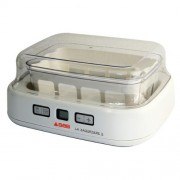 Seb-YG500100-Yaourtire-Duetto-8-Pots-de-Yaourt-Inclus-Fromage-Blanc-Programmable-cran-LCD-Minuteur-30W-Blanc-0