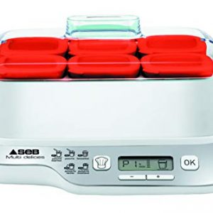 Seb-YG660100-Yaourtire-Multi-Dlices-Express-6-Pots-600W-Rouge-et-Blanc-0