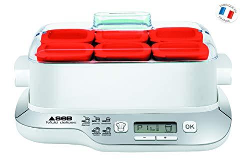 Seb-YG660100-Yaourtire-Multi-Dlices-Express-6-Pots-600W-Rouge-et-Blanc-0