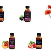 Lot-de-5-aromes-naturels-coquelicot-fraise-cassis-framboise-peche-jaune-0