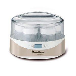 Moulinex-YG231E32-Yaourtire-Yogurteo-7-Pots-de-Yaourt-Inclus-Programmable-cran-LCD-Minuteur-13W-Silver-0