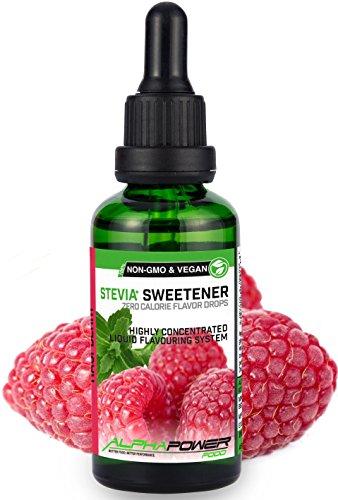 ALPHAPOWER-FOOD-Stvia-Gouttes-de-framboises-juteuses-arme-alimentaire-naturel-I-dulcorant-Liquide-trs-concentr-1-x-50-ml-flavour-Stevia-drops-Flavdrops-0
