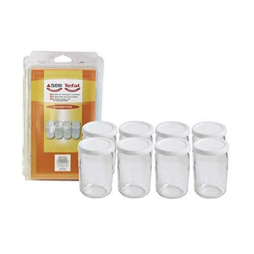 Seb-989641-8-Pots-Verre-pour-Yaourtires-Couvercle-Farine-0