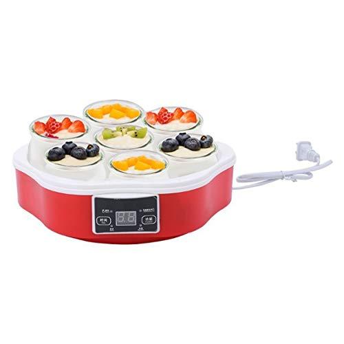 FAY-Yaourtire-Maker-Automatique-Yaourt-Numrique-avec-cran-LCD-cran-Minuterie-Et-7-X160ml-Yaourt-Jars-Marque-Yaourt-Naturel-Sain–La-Maison-0