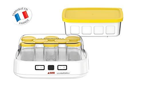 SEB-Yaourtiere-2-avec-cran-LCD-2-Programmes-Automatique-Yaourt-8-Pots-Fromage-Blanc-Frais-1-L-Livret-de-Recettes-Inclus-YG500210-0