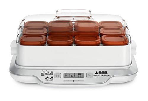 SEB-Yaourtire-Multi-Delices-Express-Marron-600W-12-Pots-YG661A00-0