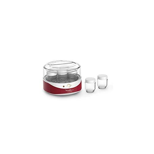 MOULINEX-YG229510-Yogurteo-Yaourtiere-7-Pots-Rouge-et-Blanc-0