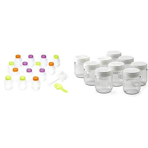 Lagrange-430201-Kit-de-14-bouteilles-yaourt–boire-Utilisation-en-yaourtire-lagrange-430301-Lot-de-9-pots-yaourt-0185-liters-0