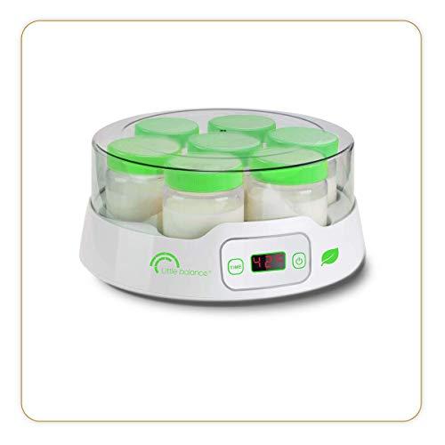 Little-balance-8316-Yaourtire-7-Digital-Yaourtire-Pour-des-Yaourts-Faits-Maison-Desserts-Lacts-14-Pots-en-Verre-190ml-Timer-jusqu-14h-Arrt-Automatique-0